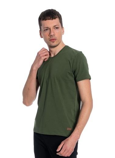 Slazenger Casper Erkek Kısa Kol Tişört Haki